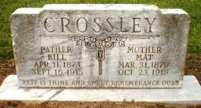 CROSSLEY, MAT - Ashley County, Arkansas   MAT CROSSLEY - Arkansas Gravestone Photos