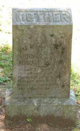 CAMPBELL, W. G., MRS. - Ashley County, Arkansas | W. G., MRS. CAMPBELL - Arkansas Gravestone Photos