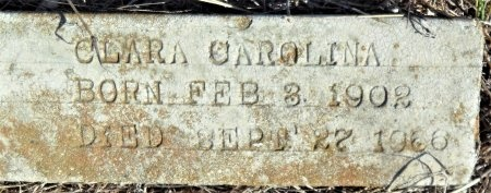 CAROLINA, CLARA (CLOSE UP) - Ashley County, Arkansas | CLARA (CLOSE UP) CAROLINA - Arkansas Gravestone Photos
