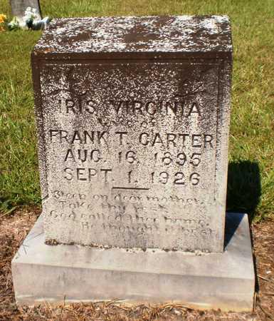 PENDERGRAST CARTER, IRIS VIRGINIA - Ashley County, Arkansas | IRIS VIRGINIA PENDERGRAST CARTER - Arkansas Gravestone Photos