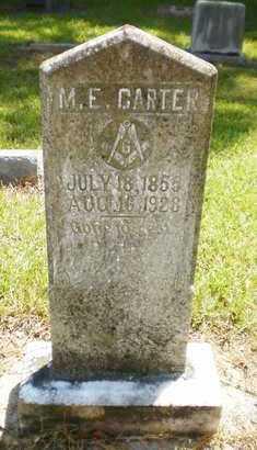CARTER, MARIEN E (OLD HEADSTONE) - Ashley County, Arkansas | MARIEN E (OLD HEADSTONE) CARTER - Arkansas Gravestone Photos