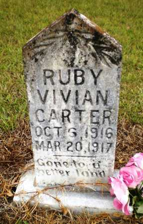 CARTER, RUBY VIVIAN - Ashley County, Arkansas   RUBY VIVIAN CARTER - Arkansas Gravestone Photos