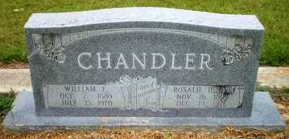 CHANDLER, WILLIAM E - Ashley County, Arkansas | WILLIAM E CHANDLER - Arkansas Gravestone Photos