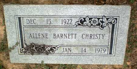 CHRISTY, ALLENE - Ashley County, Arkansas | ALLENE CHRISTY - Arkansas Gravestone Photos