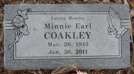 COAKLEY, MINNIE EARL - Ashley County, Arkansas | MINNIE EARL COAKLEY - Arkansas Gravestone Photos