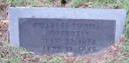 COCKRELL, CHARLES THOMAS - Ashley County, Arkansas | CHARLES THOMAS COCKRELL - Arkansas Gravestone Photos