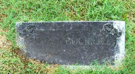 COCKRELL, EMMA J - Ashley County, Arkansas | EMMA J COCKRELL - Arkansas Gravestone Photos