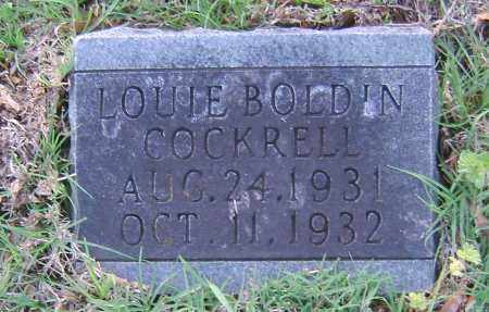 COCKRELL, LOUIE BOLDIN - Ashley County, Arkansas | LOUIE BOLDIN COCKRELL - Arkansas Gravestone Photos