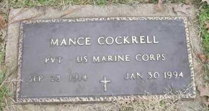 COCKRELL (VETERAN), MANCE - Ashley County, Arkansas | MANCE COCKRELL (VETERAN) - Arkansas Gravestone Photos