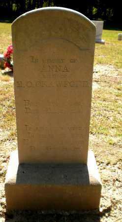 CRAWFORD, ANNA - Ashley County, Arkansas   ANNA CRAWFORD - Arkansas Gravestone Photos
