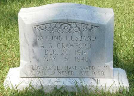 CRAWFORD, A G - Ashley County, Arkansas | A G CRAWFORD - Arkansas Gravestone Photos