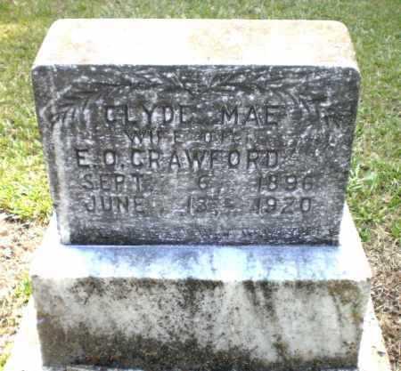 HILL CRAWFORD, CLYDE MAE - Ashley County, Arkansas | CLYDE MAE HILL CRAWFORD - Arkansas Gravestone Photos