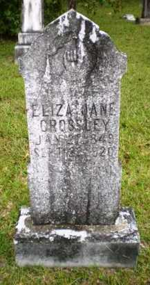 CROSSLEY, ELIZA JANE - Ashley County, Arkansas   ELIZA JANE CROSSLEY - Arkansas Gravestone Photos