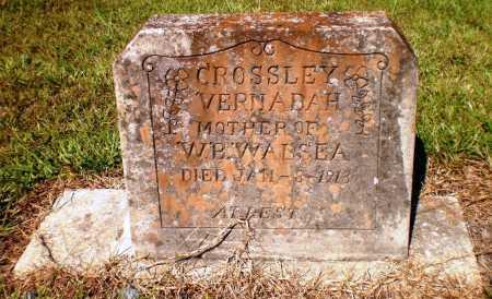 CROSSLEY, VERNADAH - Ashley County, Arkansas | VERNADAH CROSSLEY - Arkansas Gravestone Photos