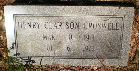 CROSWELL, HENRY CLARISON - Ashley County, Arkansas | HENRY CLARISON CROSWELL - Arkansas Gravestone Photos