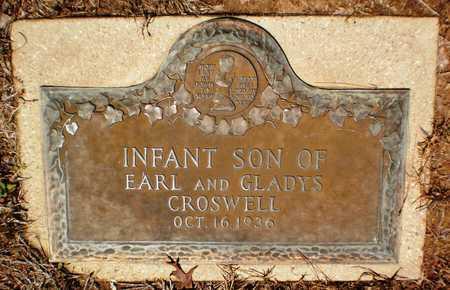 CROSWELL, INFANT SON - Ashley County, Arkansas | INFANT SON CROSWELL - Arkansas Gravestone Photos