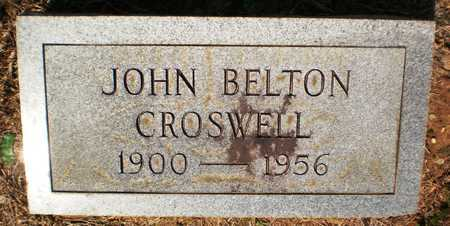 CROSWELL, JOHN BELTON - Ashley County, Arkansas | JOHN BELTON CROSWELL - Arkansas Gravestone Photos