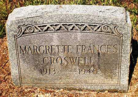 CROSWELL, MARGRETTE FRANCES - Ashley County, Arkansas | MARGRETTE FRANCES CROSWELL - Arkansas Gravestone Photos