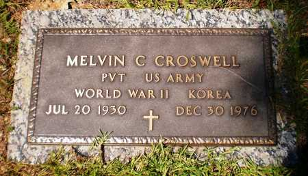 CROSWELL (VETERAN 2 WARS), MELVIN C - Ashley County, Arkansas | MELVIN C CROSWELL (VETERAN 2 WARS) - Arkansas Gravestone Photos