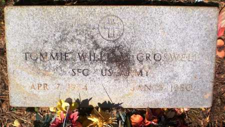 CROSWELL (VETERAN), TOMMIE WILLIAM - Ashley County, Arkansas | TOMMIE WILLIAM CROSWELL (VETERAN) - Arkansas Gravestone Photos