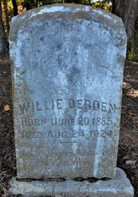 DERDEN, WILLIE - Ashley County, Arkansas | WILLIE DERDEN - Arkansas Gravestone Photos