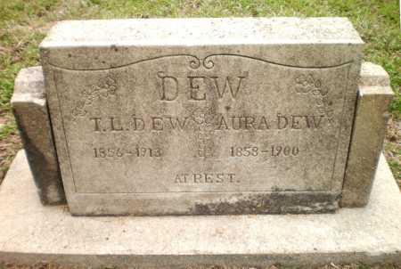 DEW, AURA - Ashley County, Arkansas | AURA DEW - Arkansas Gravestone Photos