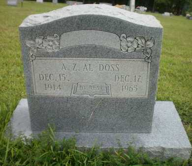 "DOSS, A Z ""AL"" - Ashley County, Arkansas | A Z ""AL"" DOSS - Arkansas Gravestone Photos"