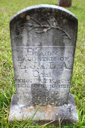 DOSS, BRASKA - Ashley County, Arkansas | BRASKA DOSS - Arkansas Gravestone Photos