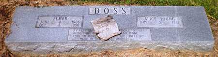 YOUNG DOSS, ALICE MARIE - Ashley County, Arkansas | ALICE MARIE YOUNG DOSS - Arkansas Gravestone Photos
