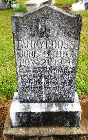 DOSS, FANNY F - Ashley County, Arkansas | FANNY F DOSS - Arkansas Gravestone Photos