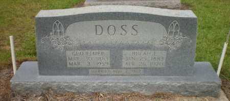 DOSS, GEORGE ELMER - Ashley County, Arkansas   GEORGE ELMER DOSS - Arkansas Gravestone Photos