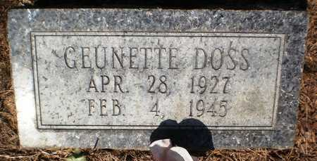 DOSS, GEUNETTE - Ashley County, Arkansas | GEUNETTE DOSS - Arkansas Gravestone Photos