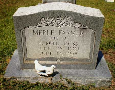 FARMER DOSS, MERLE - Ashley County, Arkansas | MERLE FARMER DOSS - Arkansas Gravestone Photos