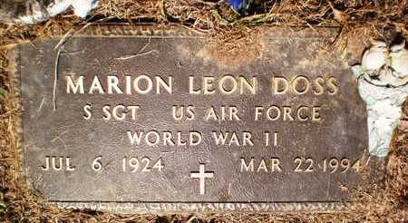DOSS (VETERAN WWII), MARION LEON - Ashley County, Arkansas   MARION LEON DOSS (VETERAN WWII) - Arkansas Gravestone Photos