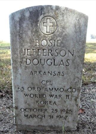 DOUGLAS (VETERAN 2 WARS), BOSIE JEFFERSON - Ashley County, Arkansas   BOSIE JEFFERSON DOUGLAS (VETERAN 2 WARS) - Arkansas Gravestone Photos