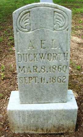DUCKWORTH, ALLIE E  L - Ashley County, Arkansas | ALLIE E  L DUCKWORTH - Arkansas Gravestone Photos