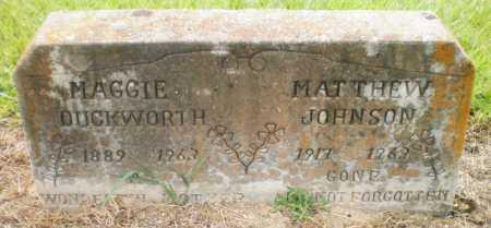 DUCKWORTH, MAGGIE - Ashley County, Arkansas | MAGGIE DUCKWORTH - Arkansas Gravestone Photos