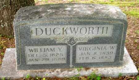 DUCKWORTH (VETERAN CSA), WILLIAM YOUNGER - Ashley County, Arkansas | WILLIAM YOUNGER DUCKWORTH (VETERAN CSA) - Arkansas Gravestone Photos