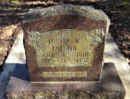 FALSON, LOUISE W - Ashley County, Arkansas | LOUISE W FALSON - Arkansas Gravestone Photos