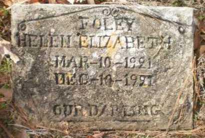 FOLEY, HELEN ELIZABETH - Ashley County, Arkansas | HELEN ELIZABETH FOLEY - Arkansas Gravestone Photos