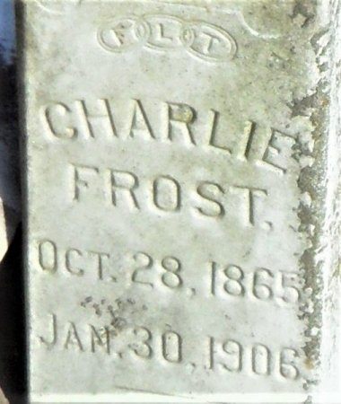FROST, CHARLIE (CLOSE UP) - Ashley County, Arkansas | CHARLIE (CLOSE UP) FROST - Arkansas Gravestone Photos