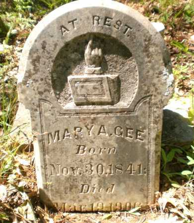 GEE, MARY A - Ashley County, Arkansas | MARY A GEE - Arkansas Gravestone Photos