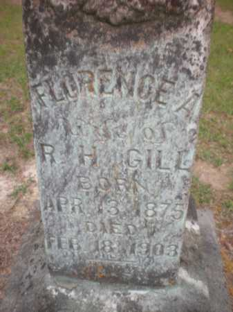 HOPKINS GILL, FLORENCE A (CLOSE UP) - Ashley County, Arkansas | FLORENCE A (CLOSE UP) HOPKINS GILL - Arkansas Gravestone Photos
