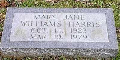 HARRIS, MARY JANE - Ashley County, Arkansas | MARY JANE HARRIS - Arkansas Gravestone Photos