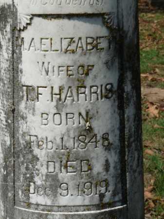 HARRIS, M A ELIZABETH (CLOSE UP) - Ashley County, Arkansas | M A ELIZABETH (CLOSE UP) HARRIS - Arkansas Gravestone Photos