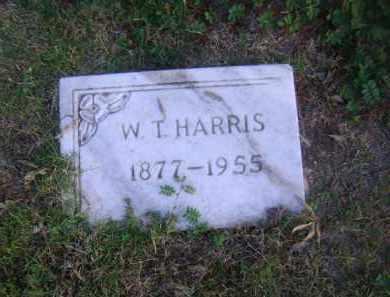 HARRIS, W T - Ashley County, Arkansas   W T HARRIS - Arkansas Gravestone Photos