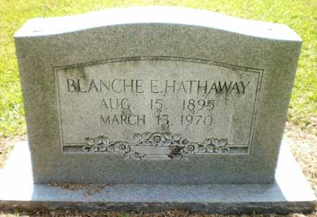 HATHAWAY, BLANCHE E - Ashley County, Arkansas   BLANCHE E HATHAWAY - Arkansas Gravestone Photos