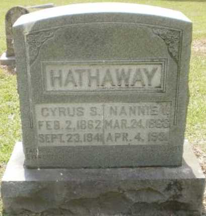HATHAWAY, NANNIE I - Ashley County, Arkansas | NANNIE I HATHAWAY - Arkansas Gravestone Photos