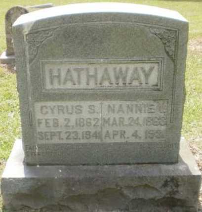 HATHAWAY, CYRUS S - Ashley County, Arkansas | CYRUS S HATHAWAY - Arkansas Gravestone Photos