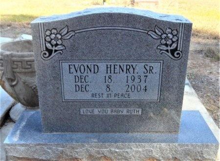 HENRY, SR., EVOND - Ashley County, Arkansas | EVOND HENRY, SR. - Arkansas Gravestone Photos